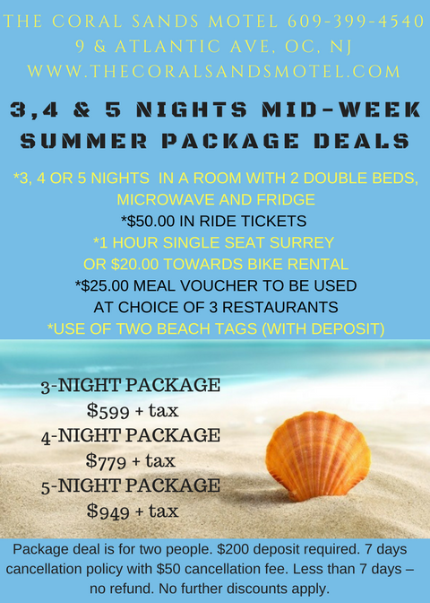 summer mid week new rates